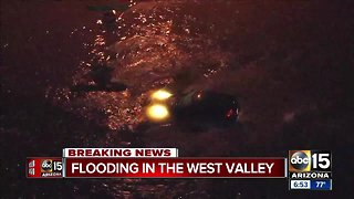 West Valley sees flooding after storm brings rain and hail