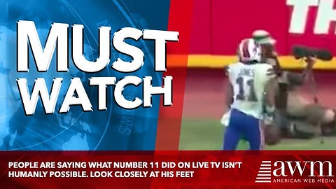 People Are Saying What Number 11 Did On Live TV Isn't Humanly Possible. Look Closely At His Feet