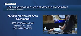 North Las Vegas police department blood drive tomorrow