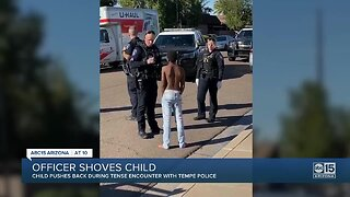 Child pushes back during an encounter with Tempe police