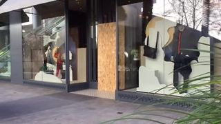 Video shows store boarded up after break-in - Video