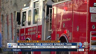 Baltimore fire engines being shut down temporarily to assist with emergency medical calls