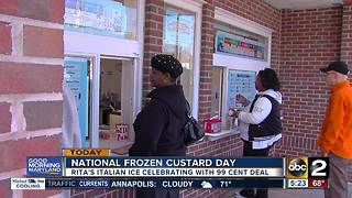 Rita's is selling frozen custard for just 99 cents. - Video