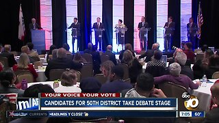 Candidates for 50th District take debate stage