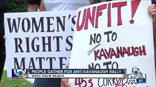 People gather for anti-Kavanaugh protest in West Palm Beach - Video