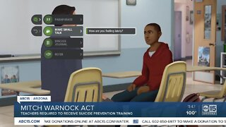 Mitch Warnock Act: Teachers would receive suicide prevention training