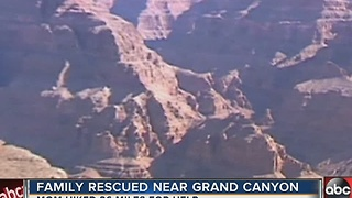 Family rescued near Grand Canyon - Video