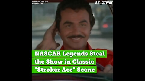 "NASCAR Legends Steal the Show in Classic ""Stroker Ace"" Scene"