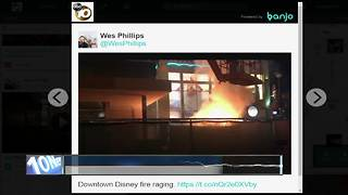 Video of fire in Downtown Disney posted online - Video