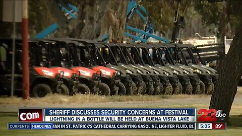 Sheriff discusses security concerns at festival