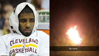 Le'Veon Bell BURNS His Kyrie Irving Jersey, Doesn't Know How to Spell - Video