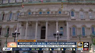 Hearing on city gun bill expected to draw crowd - Video