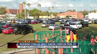 Neighbors complain about parking overflow from JCC - Video