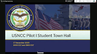 United States Naval Community College leadership discuss the USNCC Phase I pilot program