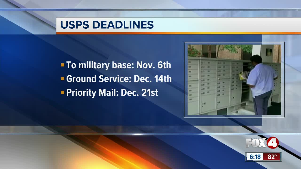 USPS deadlines for the holidays