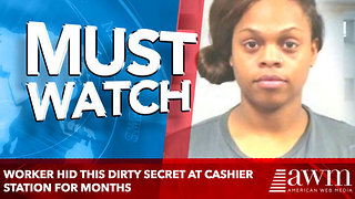Worker Hid THIS Dirty Secret At Cashier Station For Months, Then Someone Saw It - Video