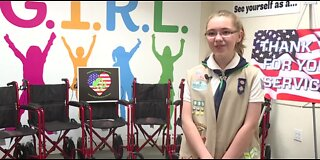 Girl Scout buys wheelchairs for veterans