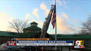Just months before he died, Colerain Officer Dale Woods helped save a blind woman from a fire