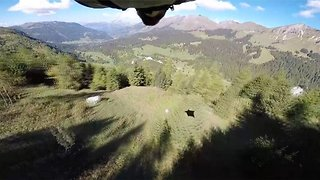 On A Wingsuit And A Prayer: Daredevil Flies Head First Down Mountain