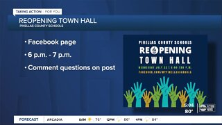 Pinellas County Schools hosting virtual town hall to answer all reopening questions