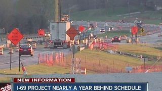 I-69 from Bloomington to Martinsville is nearly a year behind schedule - Video