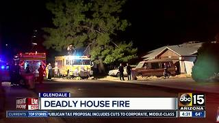 Man dead after overnight house fire in Glendale - Video