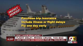 Flight delay, missed cruise, too bad - Video