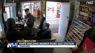 Woman with large knife robs Bay Area gas station