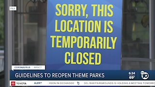 State health officials may introduce guidance for theme park reopenings