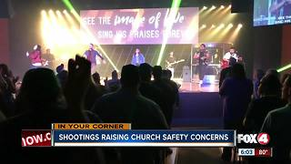 Shootings raising church safety concerns - Video