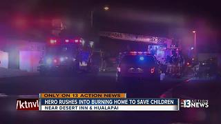 Neighbor helps save children from burning home - Video