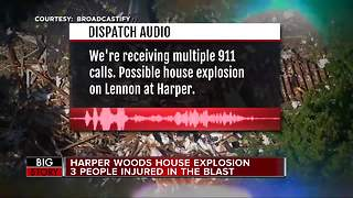 Harper Woods house explosion injures 3 people