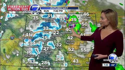 First Alert Action Day: Wind, rain & snow on the way Sunday PM in Denver