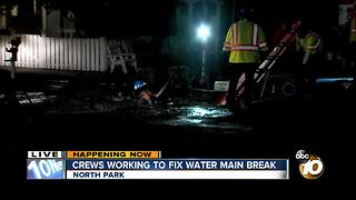 Crews working to fix North Park water main break - Video