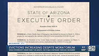 Eviction numbers rise in Maricopa County, more federal protections in place