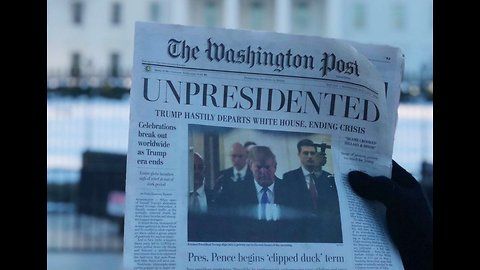 Satirical Washington Post Issue Handed Out Outside White House