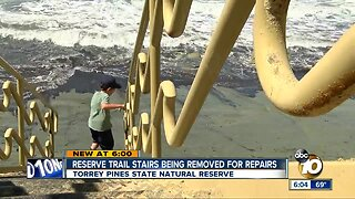 Reserve trail stairs being removed for repairs