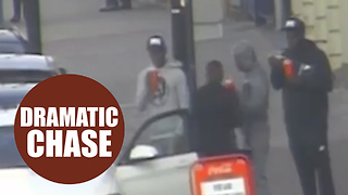 Dramatic movie-style footage shows a gang of thugs carrying out a shooting - Video