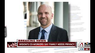 Widow's co-workers say family needs privacy