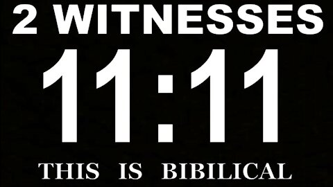 THE TWO WITNESSES REVELATION 11 4-20-21