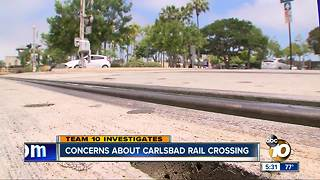 Concern about Carlsbad rail crossing - Video