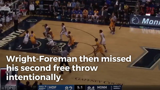 NCAA Basketball Team Actually Pulls Off Missed FT Play Successfully, Wins Game - Video