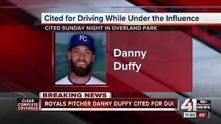 Danny Duffy cited for DUI in Overland Park - Video