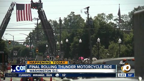 Final rolling thunder motorcycle ride