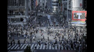 Shibuya crossing - Tokyo, Japan. One of the Busiest Intersections Jan 2021