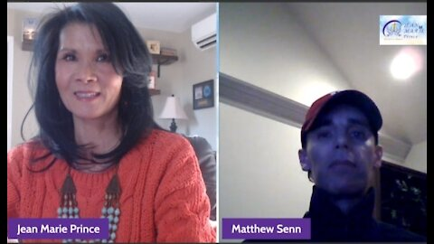 """Guest Matthew Senn on """"Inspired Blessings with Jean Marie Prince."""""""