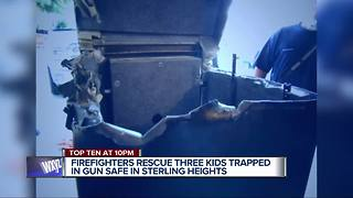Gun safe rescue: 3 metro Detroit kids accidentally lock themselves inside - Video