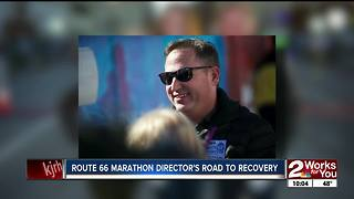 Marathon director returns to the start line after recovering from brain injury - Video
