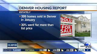 Denver homes selling over list price