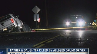 Father and daughter killed by alleged drunk driver - Video